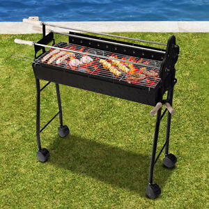 2 in 1 Portable Charcoal Grill Outdoor Folding Barbecue BBQ Heat