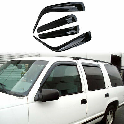 Vent Window Visor Rain Guard For Chevrolet K1500/K2500/K3500 Crew Cab 1992-2000