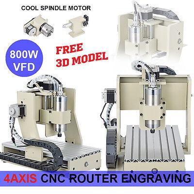 Graviermaschine 4axis Fräsmaschine Graviergerät CNC Router 3020 Engraver  MACH3
