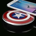 Captain america qi wireless draadloze charger pad oplader