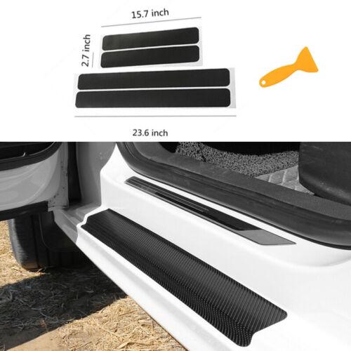 Car Parts - Car Accessories Carbon Fiber Stickers Door Sill Protector for SUV Sedan Parts