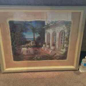 Large Framed Villa Picture London Ontario image 1