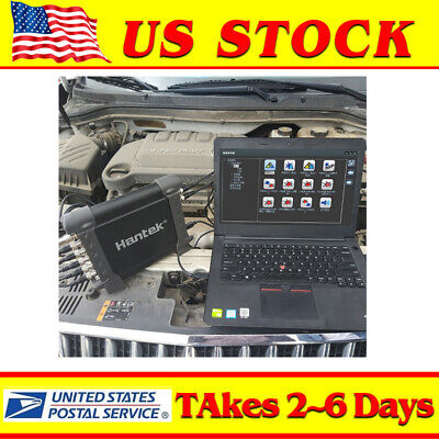 Hantek 1008C 8CH Virtual Automotive USB Oscilloscope DAQ Signal Generator Black
