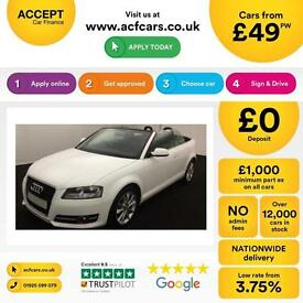 Audi A3 Cabriolet 1.6TDI ( 105ps ) CR 2012MY Sport FROM £49 PER WEEK!