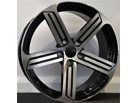 "18"" R-Line Style Alloys & Tyres. Suit Audi A3, Volkswagen Caddy,Golf, Jetta, Passat, Seat Leon 5x112"