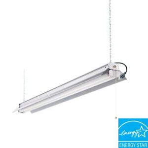 All Season 4 ft. & 3 ft. 2-Light White T8 Strip Fluorescent Shop