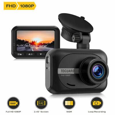 TOGUARD Mini Dash Cam 1080P Full HD Parking Monitor G-Sensor Car Camera Recorder