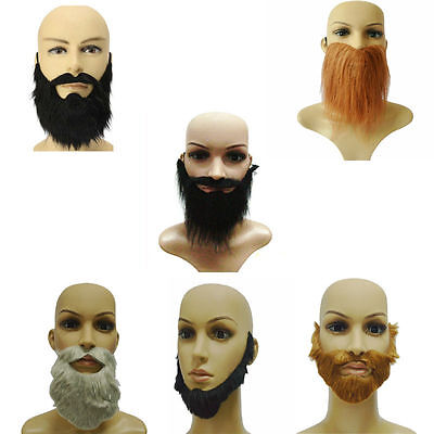 Fake Arab Beard Black Brown Grey Goatee False Disguise Fancy Dress - Fake Grey Beards