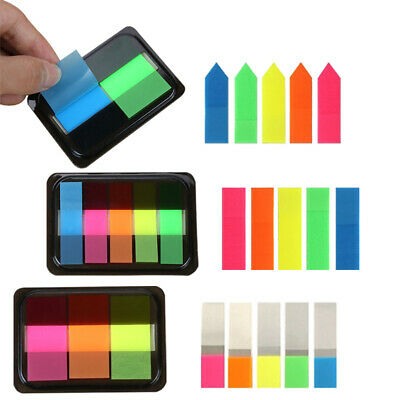 Fluorescent Sticky Notes Adhesive Memo Pad Bookmark Transparent Tab Stickerpaper