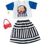 * Barbie - Supergirl - Top en Gestreepte Rok