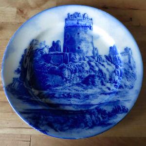 Antique Royal Doulton Delft Plate – 'Pembroke Castle'