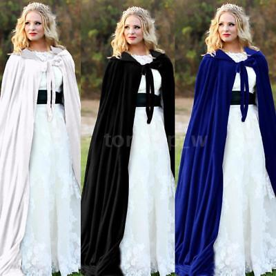 Adult Kids Halloween Party Costume Vampire Witch Velvet Cape Hooded Cloak - Witches Cloak