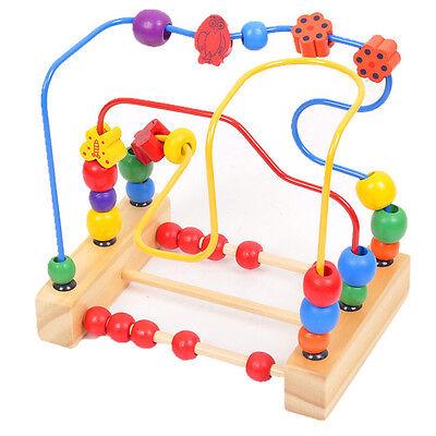 Worth Kids Baby Colorful Wooden Mini Around Beads Educationa