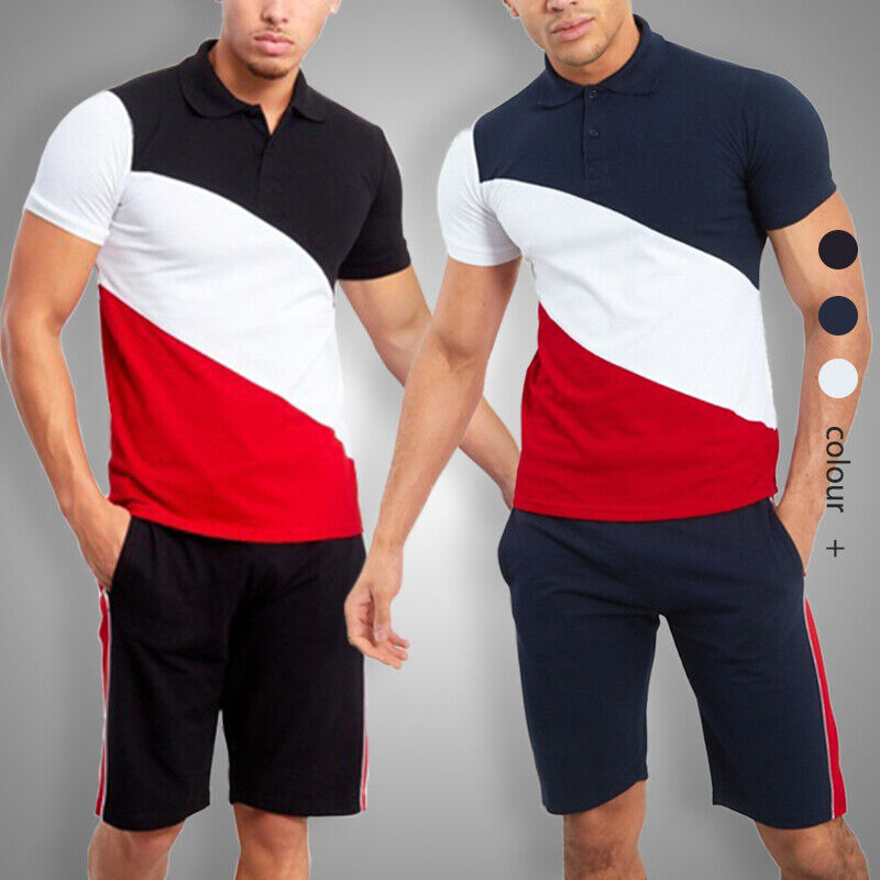 2020 Men Two Pieces Summer Sets Casual T Shirt Shorts Tracks