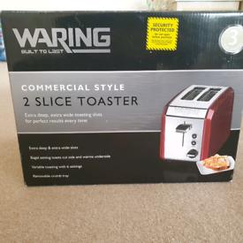 Waring 2 slice red toaster