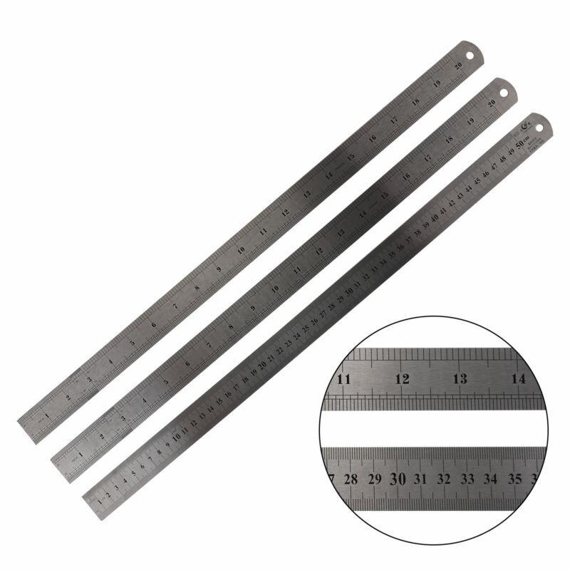 3Stk Stahllineal Stahlmaßstab Metalllineal Lineal Werkstattlineal 1 bis 20 cm