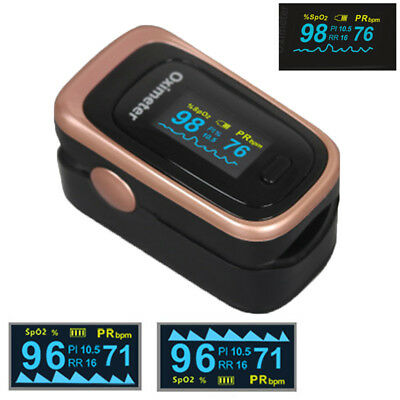 Finger Pulse Oximeter Spo2 Pr Pi Rr Care Oled Screen Sleep Monitor 8 Hours New