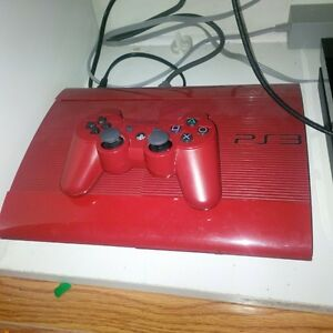 red ps3 500 gb