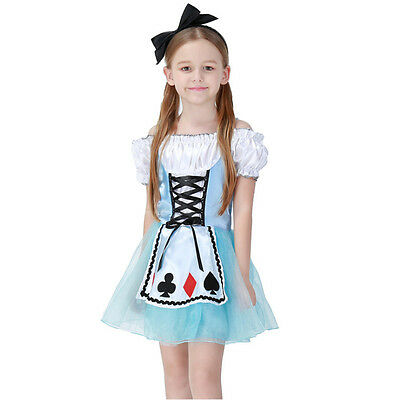 Alice In Wonderland Lolita Dress For Kids Girls Maid Cosplay Halloween Costumes](Alice In Wonderland Costume For Children)