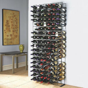 Wine Enthusiast 144 Bottle black Tie Grid