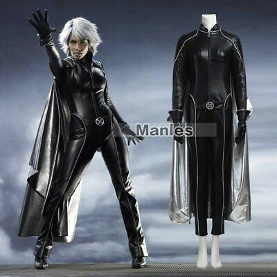 X-men Storm Ororo Munroe Cosplay Costume Black Leather Suit Halloween Women - X Men Womens Halloween Costume