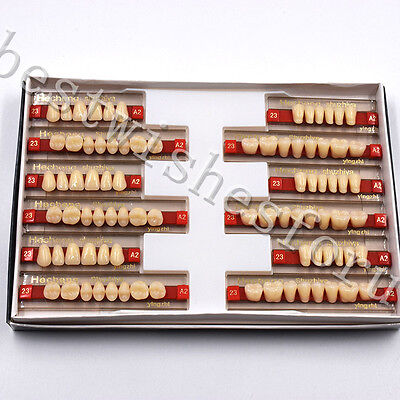 Vita A2 - 23 Dental Oral 3 Set Of 841 Acrylic Resin Denture Teeth Upper Lower