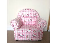 Hello Kitty upholstered Armchair | kids and toddlers | Excellent condition