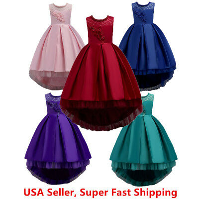 Toddler Girls/Kids Flower Princess Birthday Party Wedding Pageant Bow Dress Gown