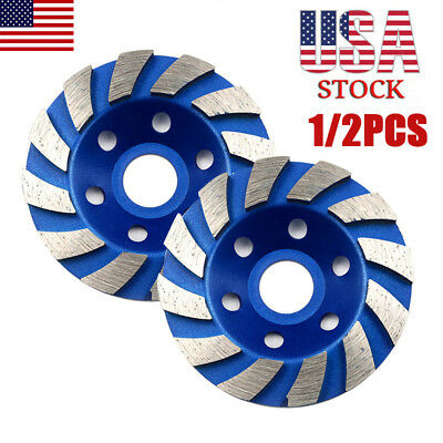 4 Diamond Segment Grinding Wheel Cup Disc Grinder Concrete Granite Stone Cut Us