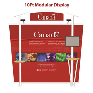 New 10Ft Modular Trade Show Display + Banner Printing