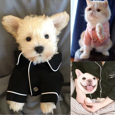 US Pet Dog Cat Pajamas Winter Warm Jumpsuit Clothes For Small Medium Pet -