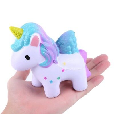 US Cartoon Unicorn Jumbo Squishy Squeeze Toy Stress Relief Slow Rising Toy Gift