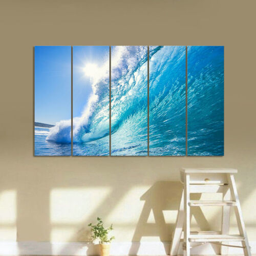 Extra Large Canvas Print Pictures Home Decor Wall Art Blue Paintings Seascape