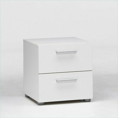 Loft Collection 2-Drawer Nightstand, White