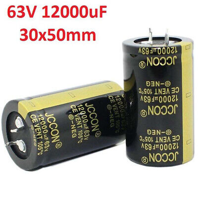 12000uf 63v Amplifieraudiopowerfilter Electrolytic Capacitor 105c 30x50mm