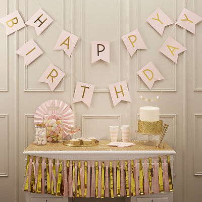 PASTEL PERFECTION - HAPPY BIRTHDAY BUNTING