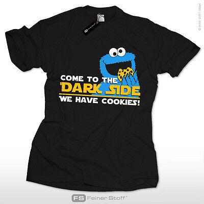 Come to the dark side star we have cookies  Krümelmonster wars T-Shirt fun kekse