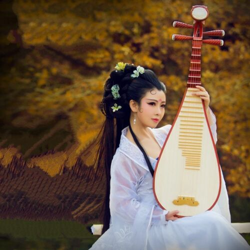 lute Liuqin - Chinese Soprano Pipa Dunhuang Musical Instrument / Adults #4858