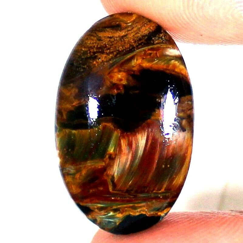 17.15 Cts 100% Natural PIETERSITE Oval Cabochon 18x28x4 mm African Top Gemstone