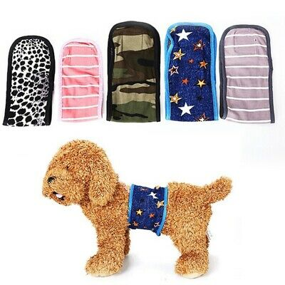 Teamoy Reusable Wrap Diapers for Male Dogs, Washable Puppy B
