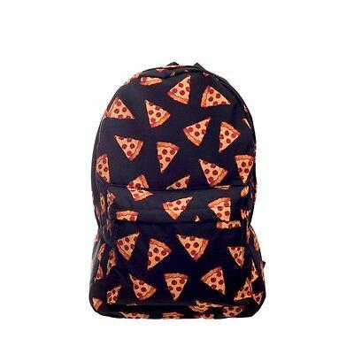 Black pizza 3D Printing backpack women mochila backpacks 2016 who cares School, usado comprar usado  Enviando para Brazil