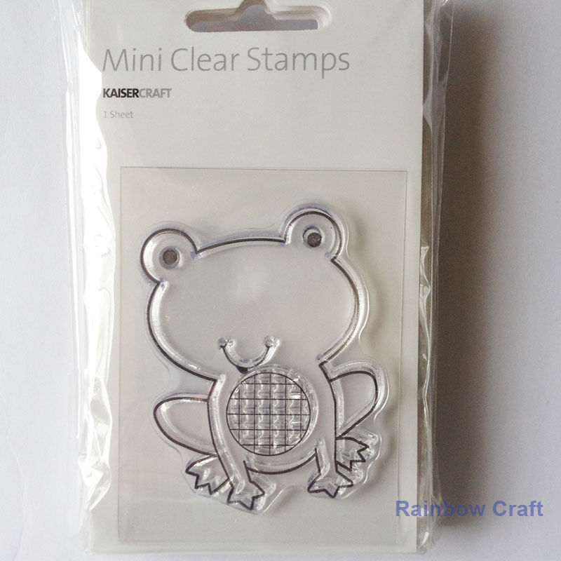 Kaisercraft mini stamps - 26 wording / patterns Scrapbooking card making - Frog