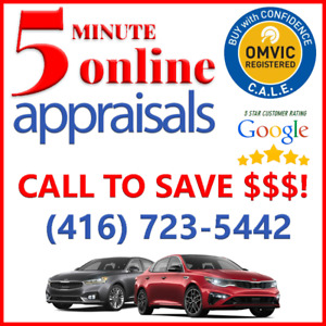 5 MINUTE ONLINE CAR APPRAISAL  MTO? CLASSIC? DISPUTE?  $40 up