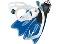 Cressi Junior Palau Fins, Marea Mask & Dry Snorkel Set