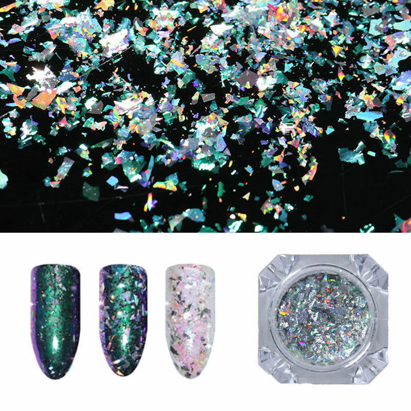 Born Pretty Irregular Glitter Nails Sequins Flakes Gold Silver Paillette Powder