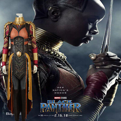 New movie Black Panther Okoye Cosplay Costume full suit Hallowmas high quality - Movie Quality Costumes