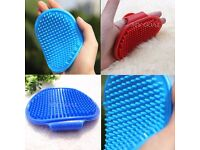 Puppy Pet Dog Cat Bath Cleanning Hair Brush Massager Comb Grooming Glove