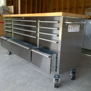 15 DRAWER STAINLESS STEEL TOOL CHEST AND WORK BENCH