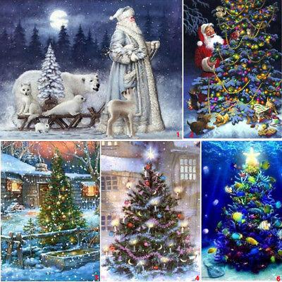 Full Drill Christmas Tree DIY 5D Diamond Painting House Cross Crafts Stitch Kits - Painting Christmas Crafts