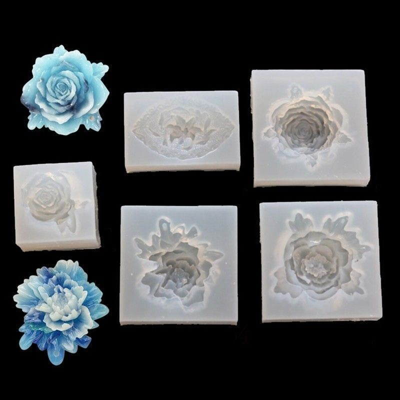 Silikonform Rose Blume Spiegel Handwerk Diy Machen Kuchen Gie formen Einfach